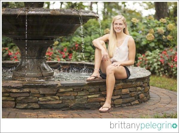 Hannah's senior picture at WRAL Azalea Gardens